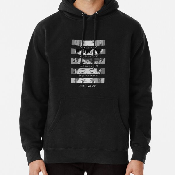 Haikyuu Setter Squad Graphic Black and White Eyes Close Up Pullover Hoodie RB0608 product Offical Haikyuu Merch